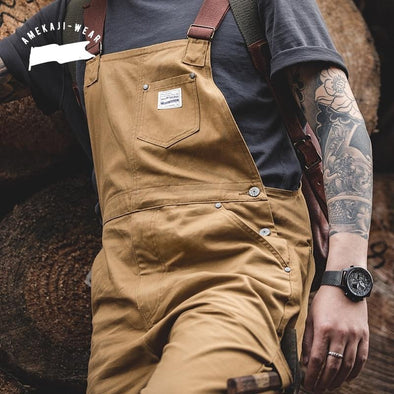 Jeans Overalls Mens Jumpsuit Cargo Work Pants