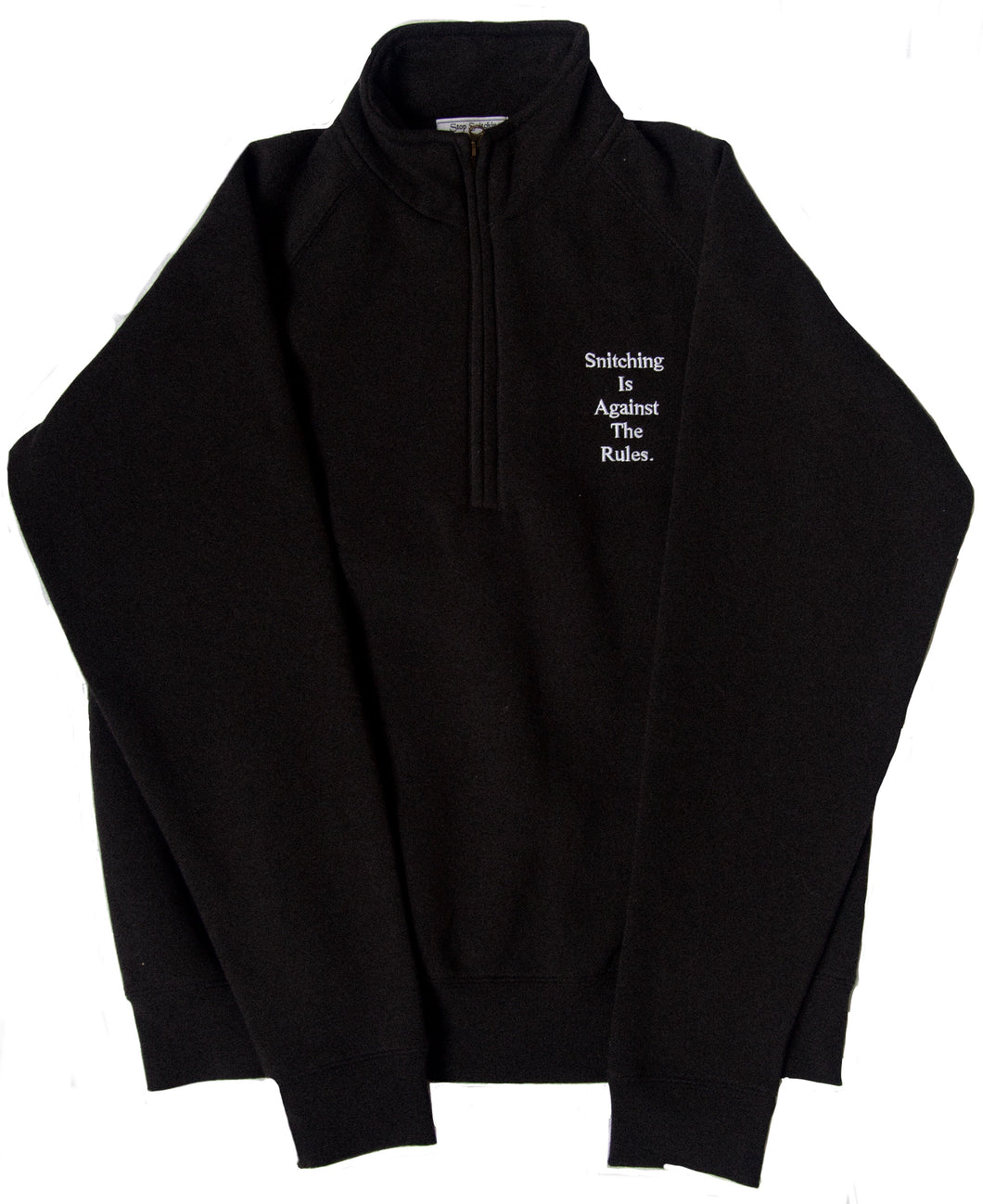BLACK SS QUARTER ZIP