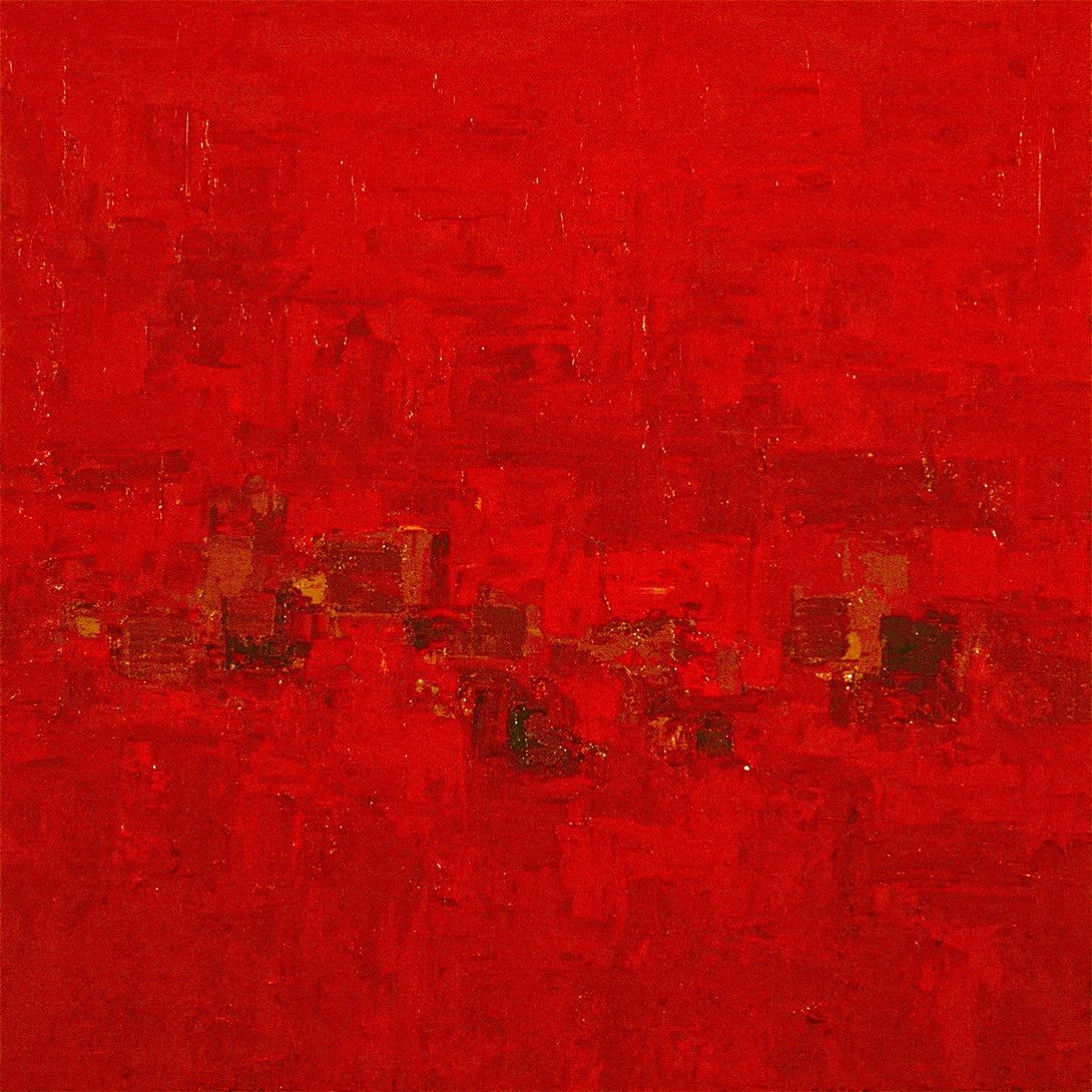 Onyeka Ibe, Red Walls, Oil on Canvas, 36x36