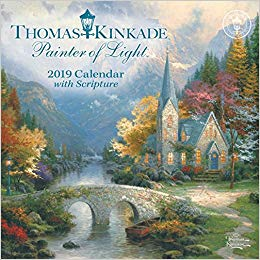 Thomas Kinkade Painter of Light With Scripture 2019 Calendar