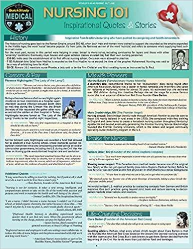 Nursing 101 - Inspirational Quotes & Stories: a QuickStudy Laminated Reference Guide