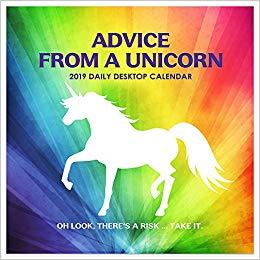 Advice from a Unicorn 2019 Desk Calendar