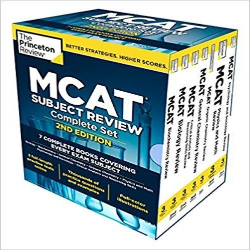 Princeton Review MCAT Subject Review Complete Box Set, 2nd Edition: 7 Complete Books