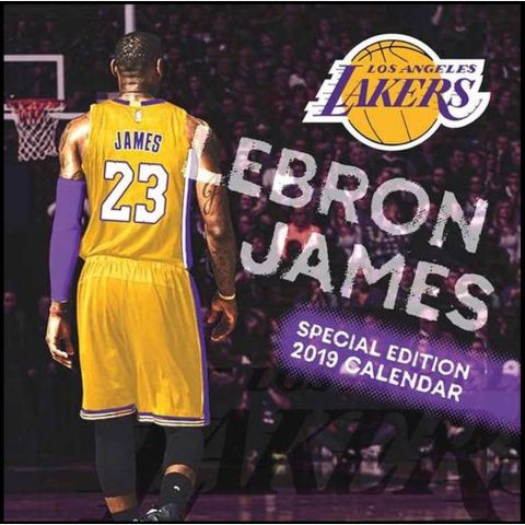 Los Angeles Lakers Lebron James 2019 Calendar