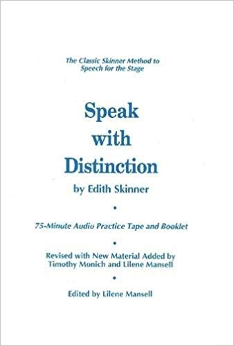 Speak With Distinction (Applause Acting Series)