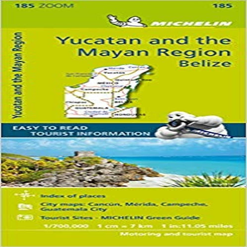 Michelin Zoom Yucatan and the Mayan Region Belize