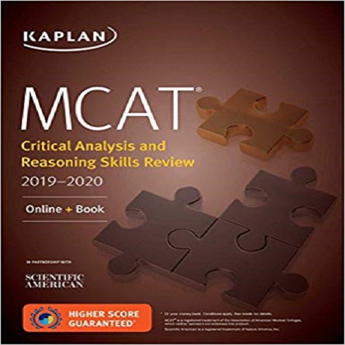 MCAT Critical Analysis and Reasoning Skills Review 2019-2020: Online + Book (Kaplan Test