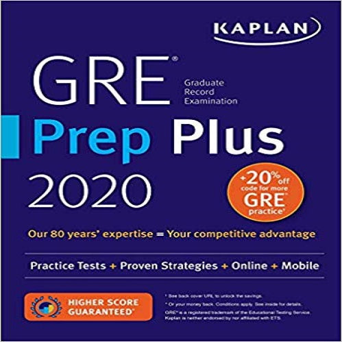 GRE Prep Plus 2020: Practice Tests + Proven Strategies + Online + Mobile