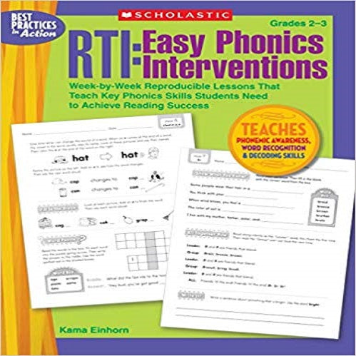 Rti: Easy Phonics Interventions: Week-By-Week Reproducible Lessons That Teach Key