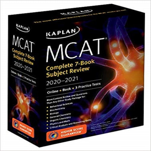 Kaplan MCAT Complete 7-Book Subject Review 2020-2021:Online + Book + 3 Practice Test