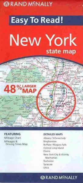 Rand McNally Easy to Read! New York State Map