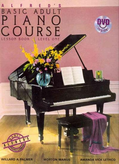 Alfred's Basic Adult Piano Course Lesson Book: Level 1 (Alfred's Basic Adult Piano Course)