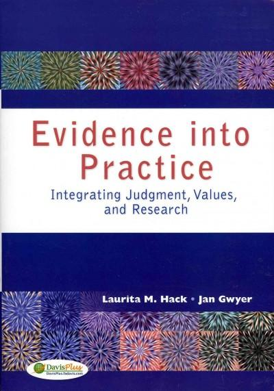 Evidence into Practice: Integrating Judgement, Values, and Research