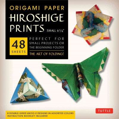 Origami Paper Hiroshige Prints - Small 6 3/4: Perfect for Small Projects or the Beginning Folder