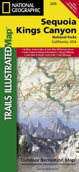 National Geographic Trails Illustrated Map Sequoia/Kings Canyon National Parks California