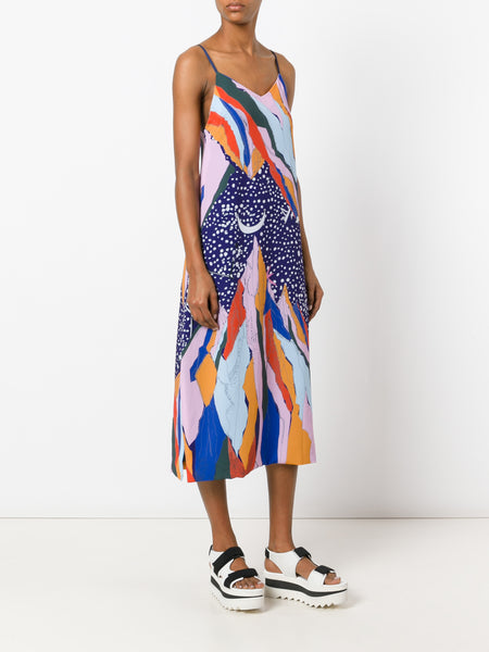 Mountain print slip dress