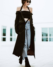 Off-the-shoulders coat