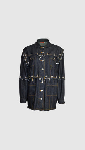 Convertible denim jacket