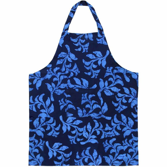 Apron - Blue Hanging Ferns - Global Mamas (A) Accessories