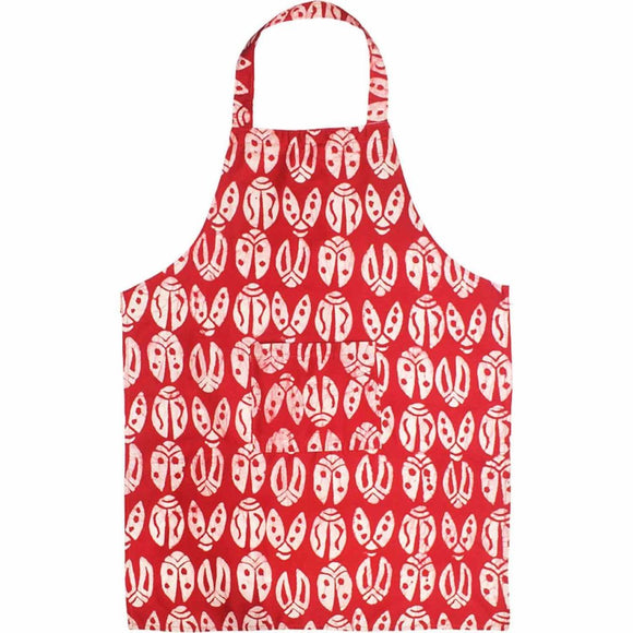 Apron - Red Bugs - Global Mamas (A) Accessories