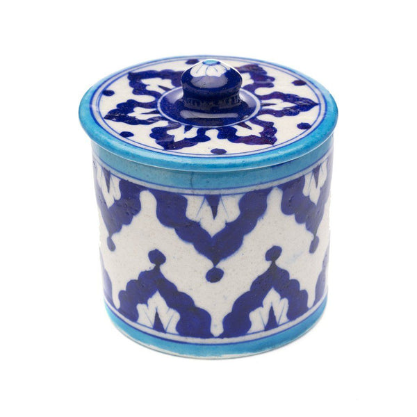 Blue Pottery Canister - Indigo - Matr Boomie (Pottery)