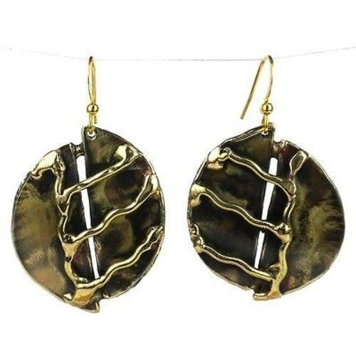 A River Runs Brass Earrings - Images (E)