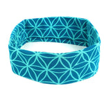 Flower Of Life Headband - Teal - Global Groove (W) Apparel