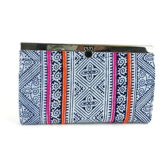 Indigo Ethnic Hmong Clutch - Global Groove (P) Purses And Pouches