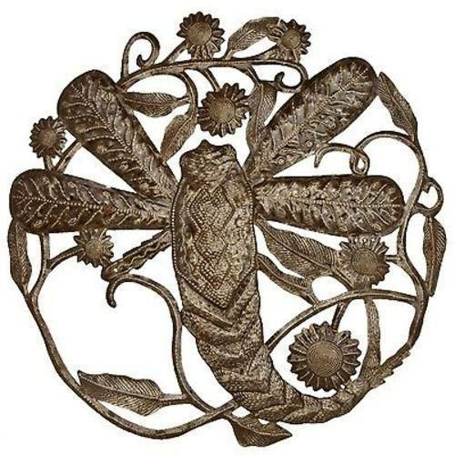 Dragonfly 24 Inch Metal Art - Croix Des Bouquets Wall