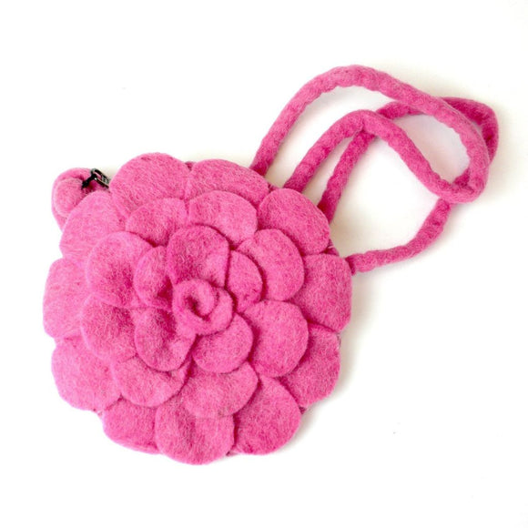 Rose Felt Purse Pink - Global Groove (P) Purses And Pouches