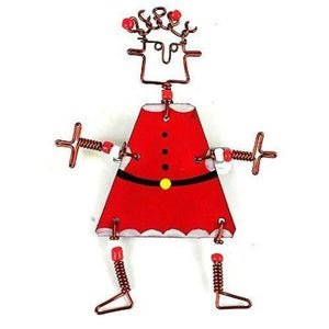Dancing Girl Santa Pin - Creative Alternatives The Takataka Collection