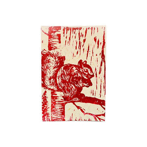 Block Print Greeting Card - Squirrel - Imani Workshop (S) Journals