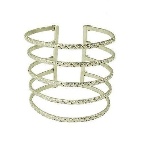Silvertone Baroque Cuff - Worldfinds World Finds