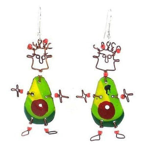 Dancing Girl Avocado Earrings - Creative Alternatives The Takataka Collection