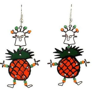 Dancing Girl Pineapple Earrings - Creative Alternatives The Takataka Collection