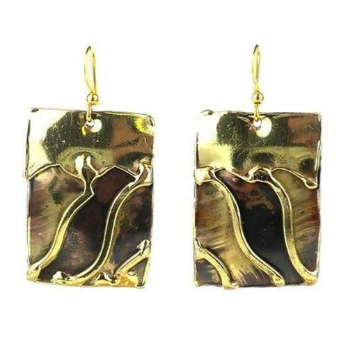 Waves Brass Earrings - Images (E)