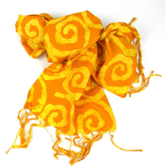 Batiked Scarf - Yellow - World Peaces (S) Scarves