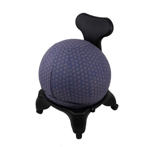 Yoga Ball Cover Size 55Cm Design Colbalt Geometric - Global Groove (Y)