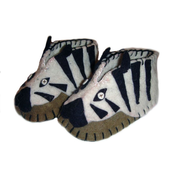 Zebra Zooties Baby Booties - Silk Road Bazaar Apparel And