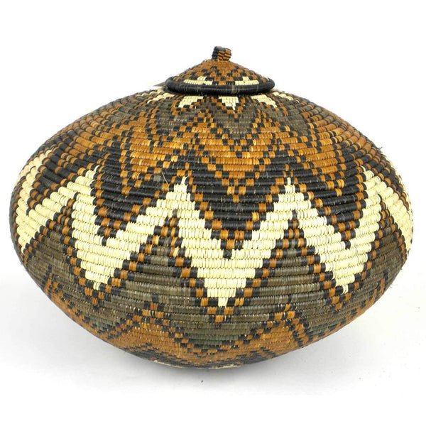 Zulu Wedding Basket -Os-06 - Ilala Weavers Baskets