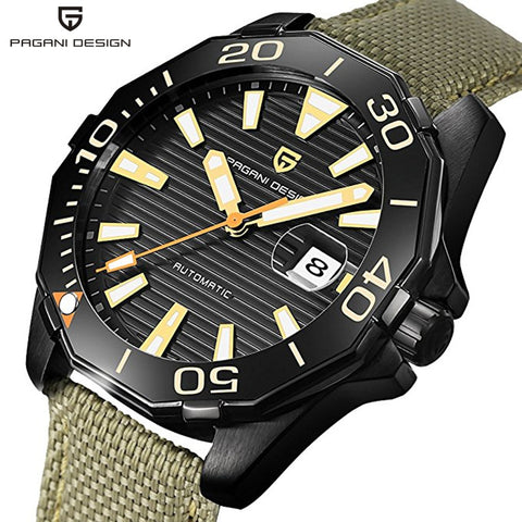 PAGANI DESIGN Mens Watch Automatic Self-Wind Watches Luminous Function Date Display Wristwatch Horloges Mannen Dropship