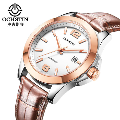 OCHSTIN Brand Luxury Sport Watch Mens Automatic Simple Mechanical Watches Men's Wristwatch Stainless Steel Relogio Masculino