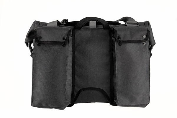 Borough Roll Top Bag L dark grey