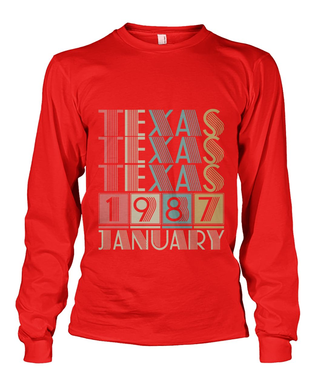 Born in Texas in January 1987 t shirt-Short Sleeves - TEEHOT.COM
