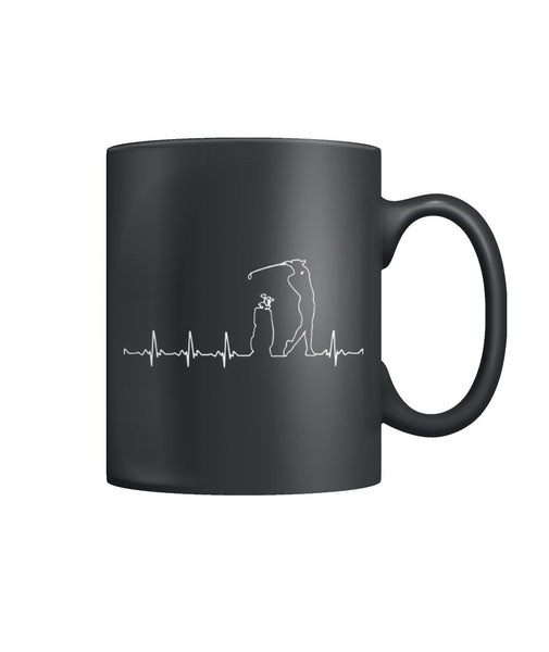 Funny Golf heartbeat mugs Color Coffee Mug