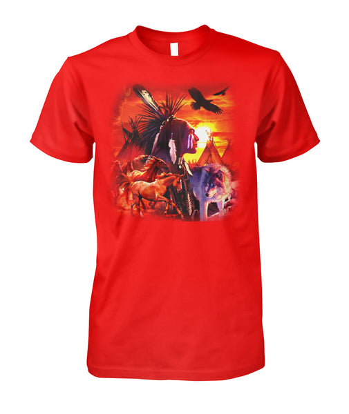 native american red shirt