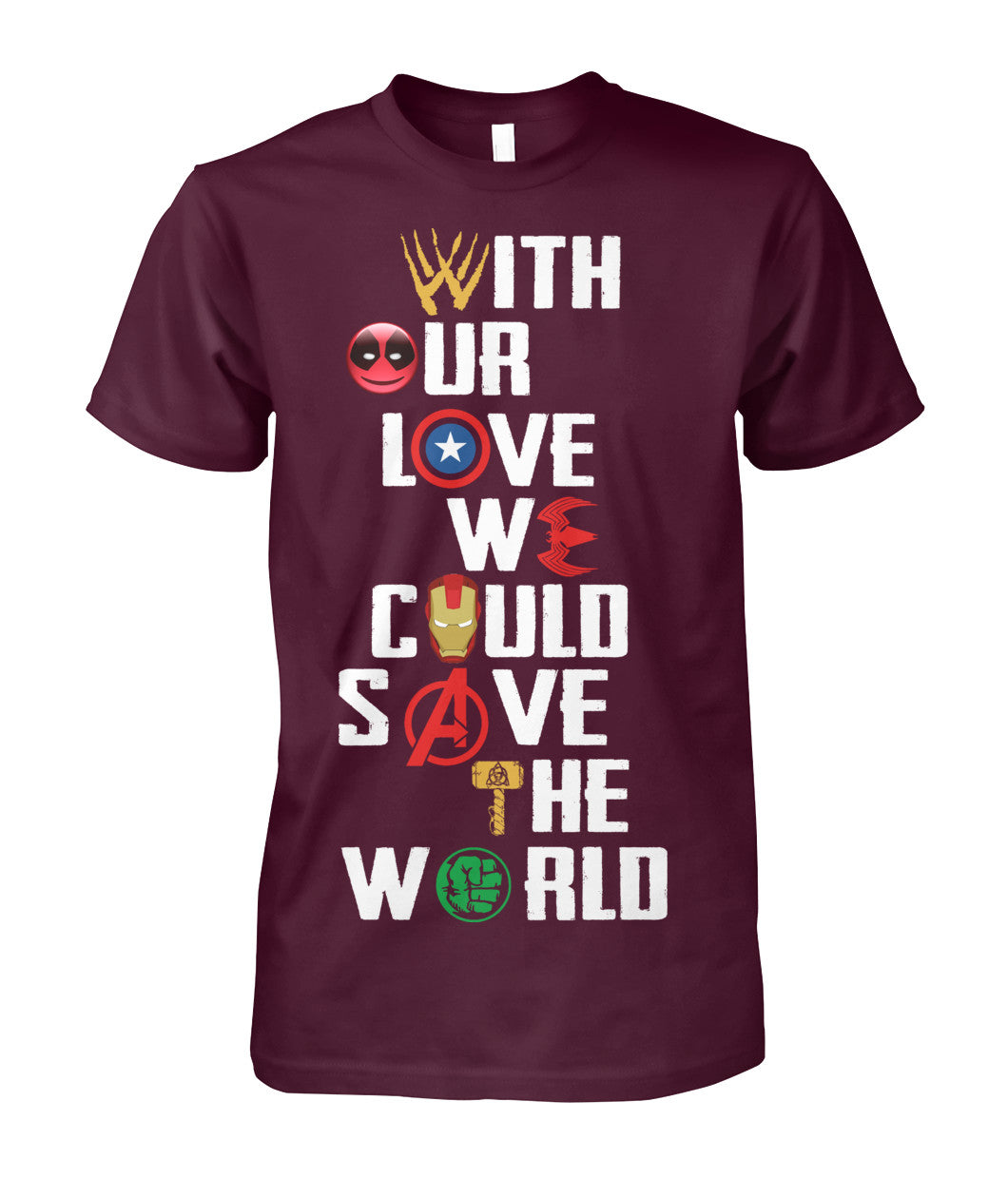 Save the world Marvel shirt 2018-Short Sleeves - AllGolfUSA.COM