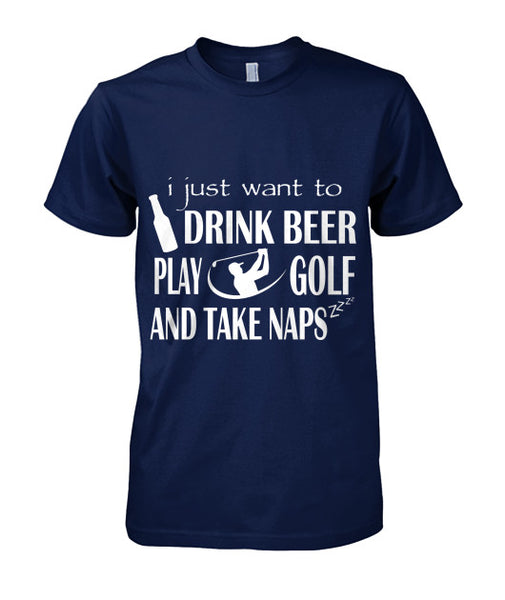 Drink Beer Play Golf T Shirts-Apparel - AllGolfUSA.COM
