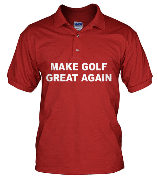Make Golf Great Again Original Men's Polo-Short Sleeves - AllGolfUSA.COM