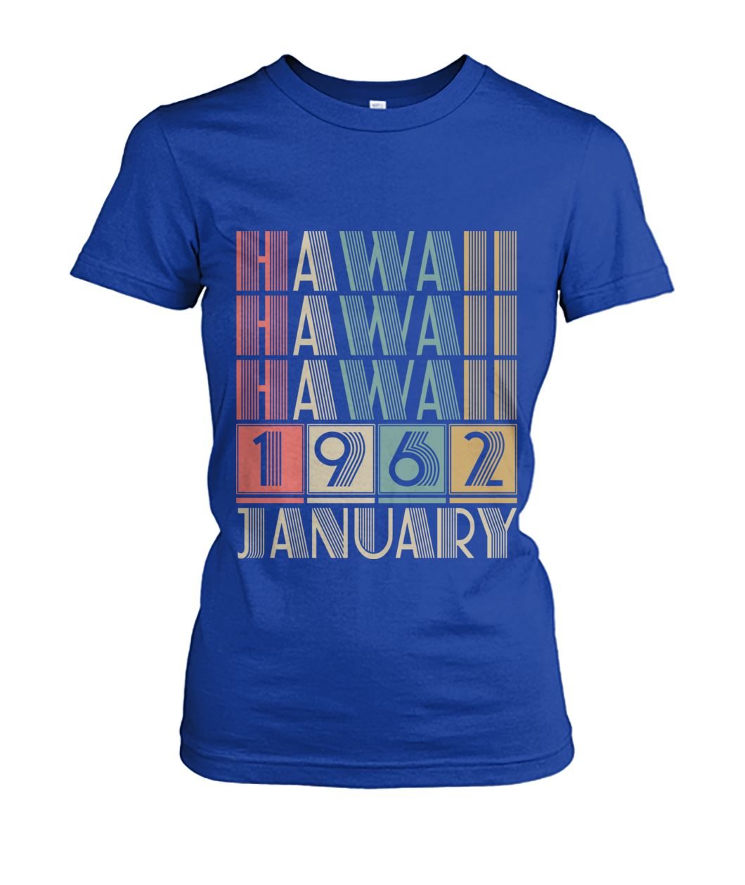 Born in Hawaii in January 1962 t shirt-Short Sleeves - TEEHOT.COM
